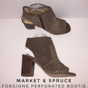 Market & Spruce - Forgione Perforated Peep Toe